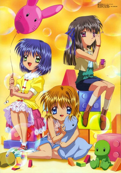 Tags: Anime, Aratani Tomoe, Kyoto Animation, Megami #61 2005-06, AIR, Tohno Minagi, Kirishima Kano, Kamio Misuzu, Official Art, Scan