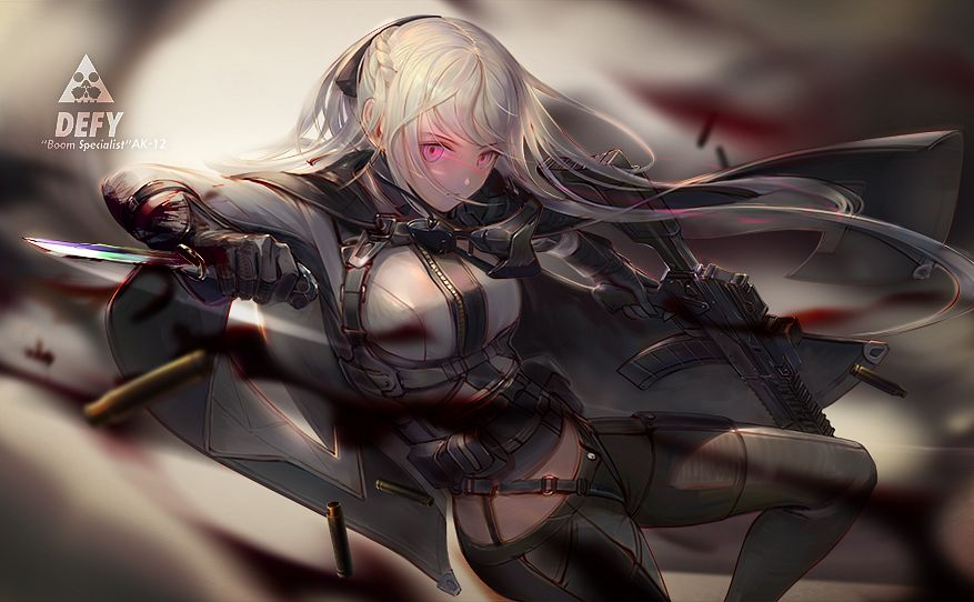 Tags: Anime, Pixiv Id 13463954, Girls Frontline, AK-12 (Girls Frontline), Assault Rifle, Revision, Fanart From Pixiv, Pixiv, Fanart