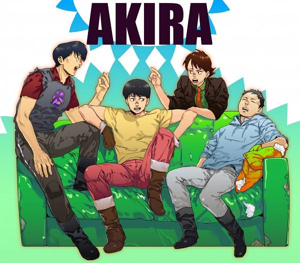 Tags: Anime, Pixiv Id 300769, AKIRA (Manga), Shoutarou Kaneda, Yamagata (Akira), Kai (Akira), Shima Tetsuo, Red Pants, Blue Hoodie, Yellow Pants, Fanart From Pixiv, Pixiv, Fanart
