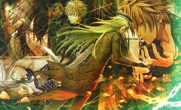 Tags: Anime, Hanamura Mai, IDEA FACTORY, AMNESIA, Shin (AMNESIA), Ukyo (AMNESIA), Toma (AMNESIA), Kent (AMNESIA), Ikki (AMNESIA), Scan, Wallpaper, Official Art