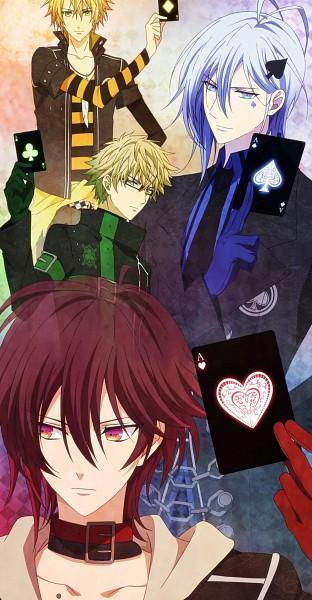 Tags: Anime, Brains Base (Studio), AMNESIA, Shin (AMNESIA), Toma (AMNESIA), Kent (AMNESIA), Ikki (AMNESIA), Stitched Screenshot, Artist Request, Screenshot