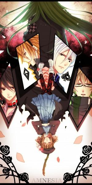 Tags: Anime, Pixiv Id 2381596, AMNESIA, Ikki (AMNESIA), Ukyo (AMNESIA), Shin (AMNESIA), Heroine (AMNESIA), Toma (AMNESIA), Kent (AMNESIA), Pixiv, Fanart