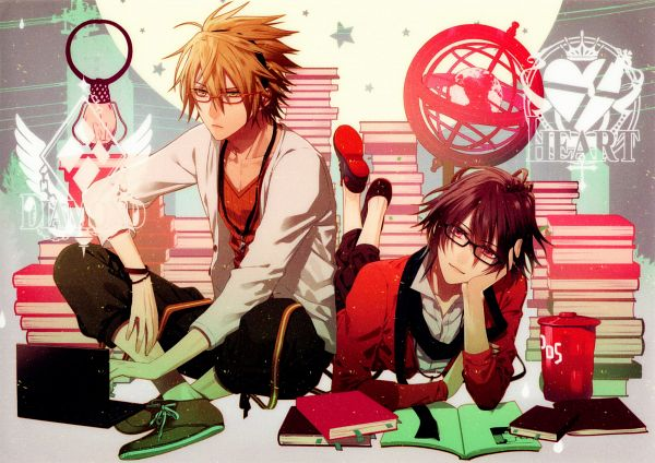 Tags: Anime, Hanamura Mai, IDEA FACTORY, AMNESIA, Toma (AMNESIA), Shin (AMNESIA), Hipster, Scan, Official Art