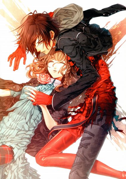 Tags: Anime, Hanamura Mai, IDEA FACTORY, AMNESIA, Heroine (AMNESIA), Shin (AMNESIA), Mobile Wallpaper, Scan, Official Art