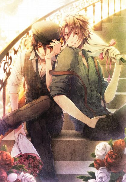 Tags: Anime, Hanamura Mai, AMNESIA, Toma (AMNESIA), Shin (AMNESIA), Scan, Official Art, Replacement Request