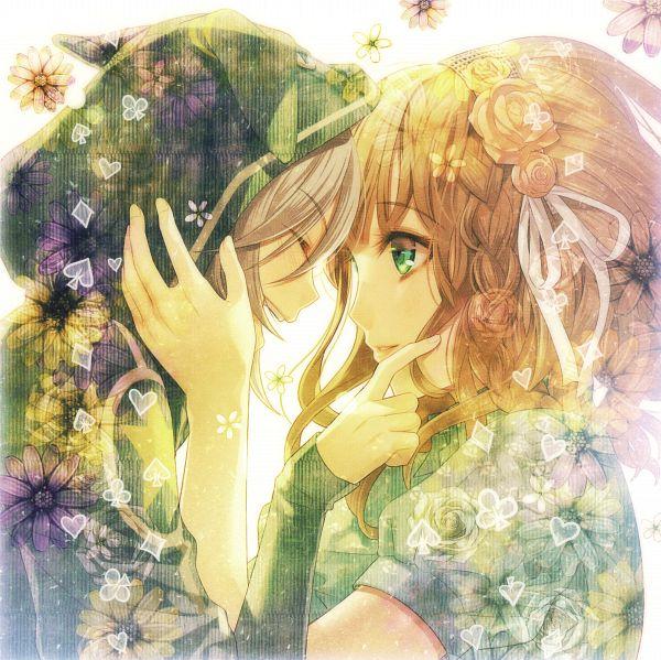 Tags: Anime, Hanamura Mai, IDEA FACTORY, AMNESIA, Heroine (AMNESIA), Orion (AMNESIA), Clubs (Card), Spade (Card), Self Scanned, Scan, Official Art
