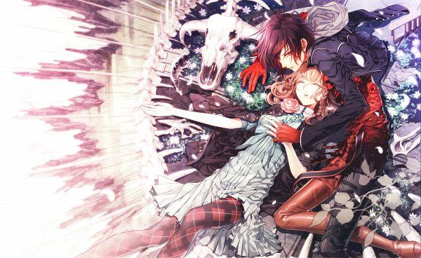 Tags: Anime, Hanamura Mai, AMNESIA, Heroine (AMNESIA), Shin (AMNESIA), Scan, Wallpaper, Official Art, Self Scanned
