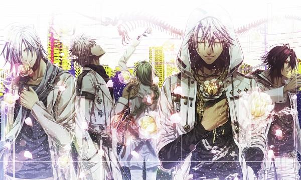 Tags: Anime, Hanamura Mai, IDEA FACTORY, AMNESIA, Kent (AMNESIA), Ikki (AMNESIA), Shin (AMNESIA), Ukyo (AMNESIA), Toma (AMNESIA), Spade (Card), Official Art, Wallpaper, Self Scanned