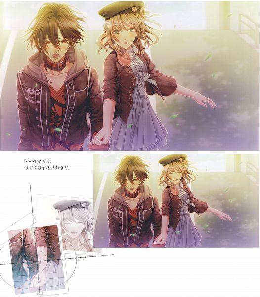 Tags: Anime, Hanamura Mai, IDEA FACTORY, AMNESIA, Heroine (AMNESIA), Shin (AMNESIA), Official Art, CG Art, Self Scanned, Scan
