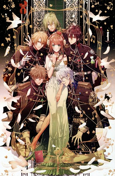 Tags: Anime, Hanamura Mai, IDEA FACTORY, AMNESIA, Heroine (AMNESIA), Toma (AMNESIA), Kent (AMNESIA), Ikki (AMNESIA), Ukyo (AMNESIA), Shin (AMNESIA), Reverse Harem, Magazine (Source), Official Art