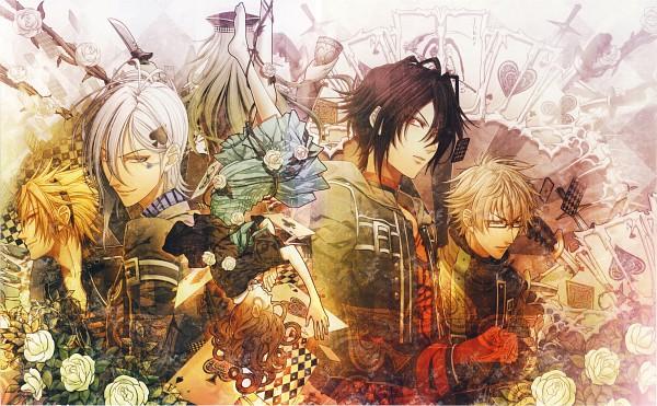 Tags: Anime, Hanamura Mai, IDEA FACTORY, AMNESIA, Ikki (AMNESIA), Ukyo (AMNESIA), Shin (AMNESIA), Heroine (AMNESIA), Toma (AMNESIA), Kent (AMNESIA), Reverse Harem, Wallpaper, Self Scanned