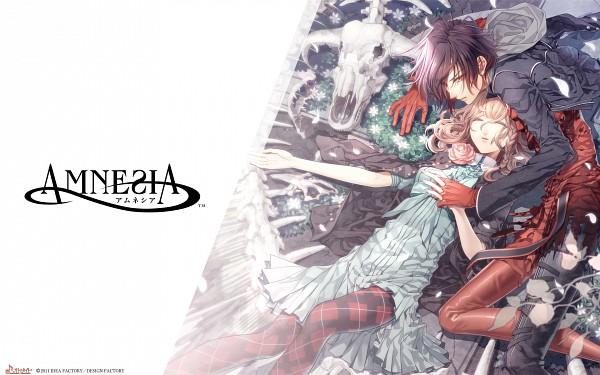 Tags: Anime, Hanamura Mai, IDEA FACTORY, AMNESIA, Heroine (AMNESIA), Shin (AMNESIA), Official Art, Wallpaper