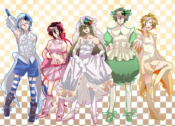 Tags: Anime, Pixiv Id 2854330, AMNESIA, Ukyo (AMNESIA), Toma (AMNESIA), Kent (AMNESIA), Ikki (AMNESIA), Shin (AMNESIA), Amulet Diamond (Cosplay), Hinamori Amu (Cosplay), Amulet Spade (Cosplay), Spade (Card), Amulet Clover (Cosplay)