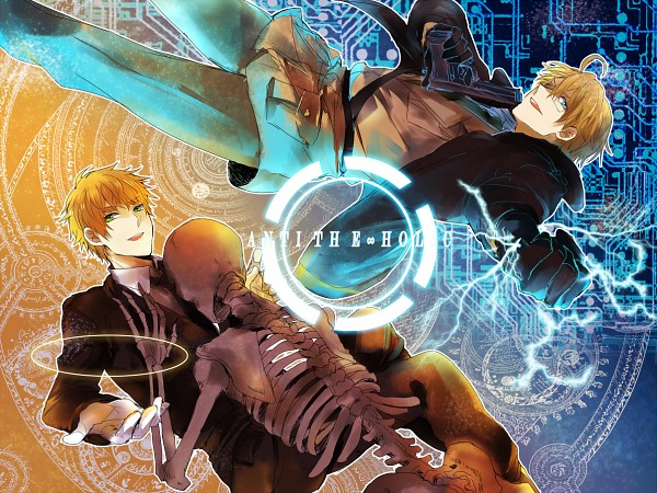 Tags: Anime, Yin (Pixiv Id 770398), Axis Powers: Hetalia, United States, United Kingdom, Bomber Jacket, Concentric Circles, Circuit, ANTI THE∞HOLiC, Fanart, Pixiv, PNG Conversion