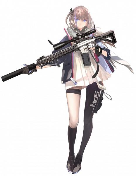 Tags: Anime, LIN+, Girls Frontline, AR-15 (Girls Frontline), Assault Rifle, Cover Image, Official Art