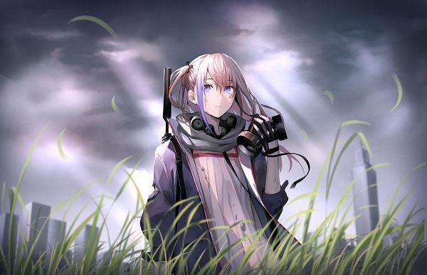 Tags: Anime, Ikemeru, Girls Frontline, AR-15 (Girls Frontline), Holding Mask, Pixiv