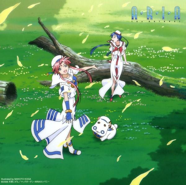 Tags: Anime, Koga Makoto, ARIA (Series), Mizunashi Akari, Aika S. Granzchesta, Aria Pokoteng, Official Art, CD (Source), Undine (ARIA)