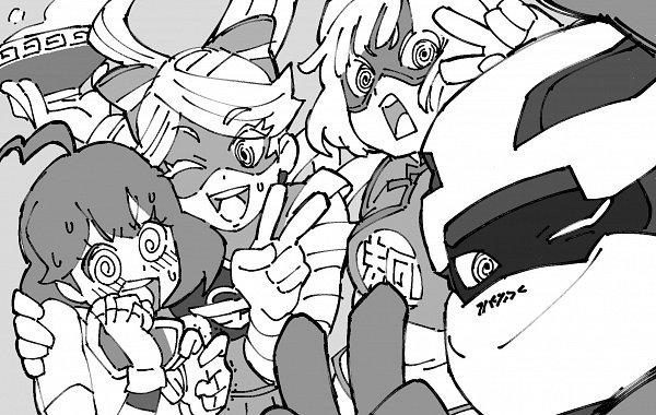 Tags: Anime, Uzura3026, ARMS (Game), Kid Cobra, Mechanica (ARMS), Ribbon Girl, Min Min (ARMS), Twitter, Fanart