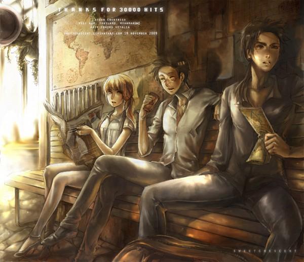 Tags: Anime, Sweetcrescent, Axis Powers: Hetalia, Myanmar, Vietnam, Thailand, Map, Newspaper, deviantART, Asian Countries, ASEAN