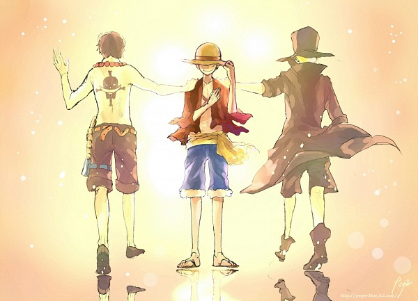 Tags: Anime, Pege, ONE PIECE, Portgas D. Ace, Monkey D. Luffy, Sabo, Fanart, Pixiv, Fanart From Pixiv, One Piece: Two Years Later, ASL