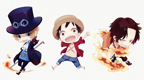Tags: Anime, Mizuguchi Too, ONE PIECE, Portgas D. Ace, Monkey D. Luffy, Sabo, One Piece: Two Years Later, Fanart, Fanart From Pixiv, Pixiv, PNG Conversion, ASL