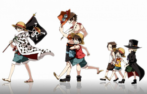 Tags: Anime, ONE PIECE, Portgas D. Ace, Monkey D. Luffy, Sabo, Skull And Crossbones, Straw Hat Pirates, ASL, D. Brothers