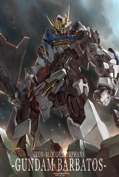 Tags: Anime, Windforcelan, Kidou Senshi Gundam: Tekketsu no Orphans, ASW-G-08 Gundam Barbatos Lupus, Fanart