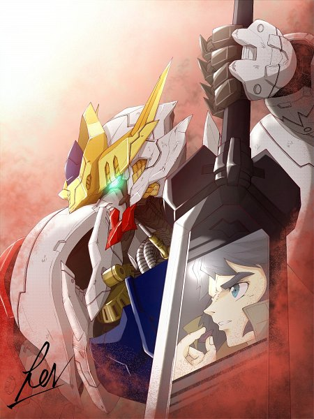 Tags: Anime, Pixiv Id 55440917, Kidou Senshi Gundam: Tekketsu no Orphans, Mikazuki Augus, ASW-G-08 Gundam Barbatos Lupus, ASW-G-08 Gundam Barbatos, Pixiv, Fanart, Twitter, Fanart From Pixiv, Gundams