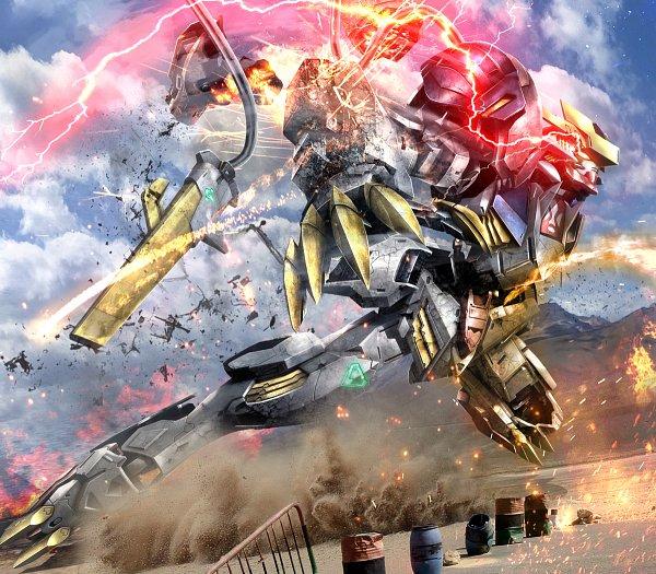 Tags: Anime, Hiropon Tasogare No Puu, Pixiv Id 2889565, Kidou Senshi Gundam: Tekketsu no Orphans, ASW-G-08 Gundam Barbatos Lupus Rex, Fanart
