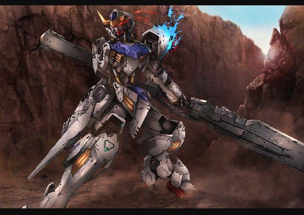 Tags: Anime, Pixiv Id 670408, Kidou Senshi Gundam: Tekketsu no Orphans, ASW-G-08 Gundam Barbatos Lupus Rex, Pixiv, Fanart, Fanart From Pixiv, Gundams