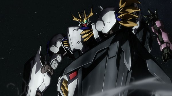 Tags: Anime, Sunrise (Studio), Kidou Senshi Gundam: Tekketsu no Orphans, ASW-G-08 Gundam Barbatos Lupus Rex, ASW-G-08 Gundam Barbatos, Screenshot, Wallpaper, Gundams
