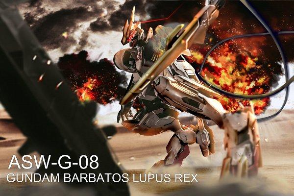 Tags: Anime, Pixiv Id 12670171, Kidou Senshi Gundam: Tekketsu no Orphans, ASW-G-08 Gundam Barbatos Lupus Rex, ASW-G-08 Gundam Barbatos, Fanart From Pixiv, Pixiv, Fanart, Gundams
