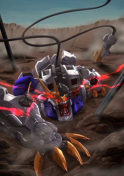 Tags: Anime, Kidou Senshi Gundam: Tekketsu no Orphans, ASW-G-08 Gundam Barbatos Lupus Rex, Fanart, Twitter, Gundams