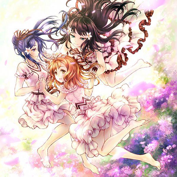 Tags: Anime, Pixiv Id 4022254, Love Live! Sunshine!!, Matsuura Kanan, Kunikida Hanamaru, Kurosawa Dia, Torikoriko Please!!, AZALEA