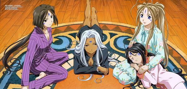 Tags: Anime, Fujishima Kousuke, Aah! Megami-sama, Skuld, Urd, Belldandy, Peorth, Rug, The Norn Sisters, Ah! My Goddess!