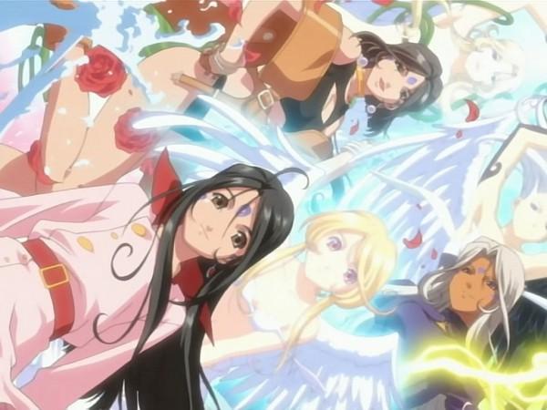 Tags: Anime, Aah! Megami-sama, Noble Scarlett, Skuld, Gorgeous Rose, Urd, World Of Elegance, Peorth, The Norn Sisters, Ah! My Goddess!
