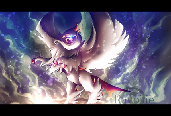 Tags: Anime, Ravoilie, Pokémon, Absol, deviantART, Mega Form (Pokémon), Shiny Pokémon, Fanart, Fanart From DeviantART