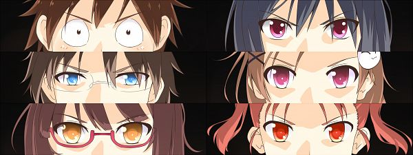 Tags: Anime, Dacchi (Artist), Accel World, Kouzuki Yuniko, Kuroyukihime, Mayuzumi Takumu, Arita Haruyuki, Himi Akira, Kurashima Chiyuri, Facebook Cover
