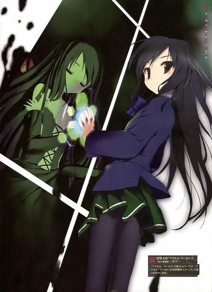 Tags: Anime, Hima (Pixiv51930), Accel World, Kuroyukihime, Official Art, Mobile Wallpaper, Scan