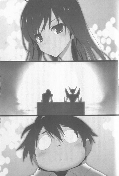Tags: Anime, Hima (Pixiv51930), Accel World, Arita Haruyuki, Kuroyukihime, Black Lotus, Silver Crow, Novel Illustration, Official Art, Scan