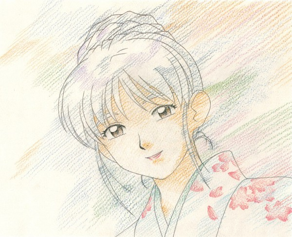 Tags: Anime, Kajishima Masaki, Geneon Pioneer, Anime International Company, Tenchi Muyo! Ryo-Ohki, Achika Masaki, Official Art, Scan