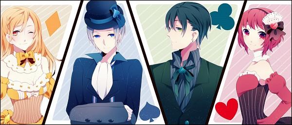 Tags: Anime, Achiki, Clubs (Card), Spade (Card), Pixiv, Original, Facebook Cover
