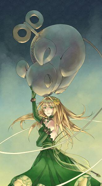 Tags: Anime, Amazon (Artist), Pandora Hearts, Ada Vessalius, Dormouse (Pandora Hearts), Faux Wings, Mobile Wallpaper, Pixiv, Fanart