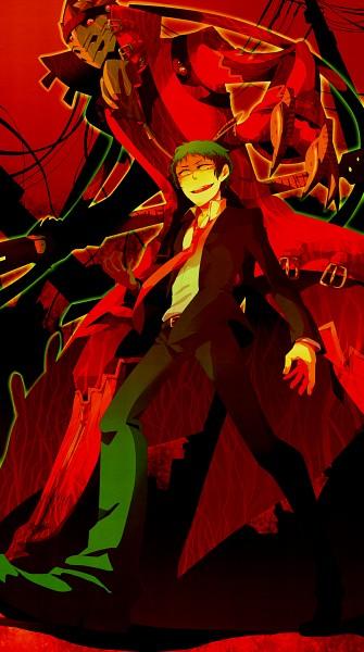 Tags: Anime, Gline, Shin Megami Tensei: PERSONA 4, Magatsu Izanagi, Adachi Tohru, Pixiv, Fanart