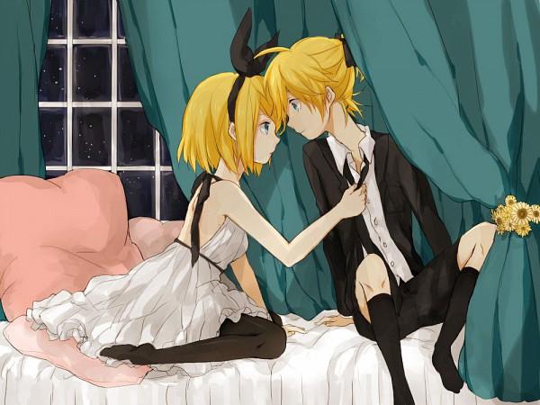 Tags: Anime, VOCALOID, Kagamine Len, Kagamine Rin, Artist Request, Adolescence, Kagamine Mirrors