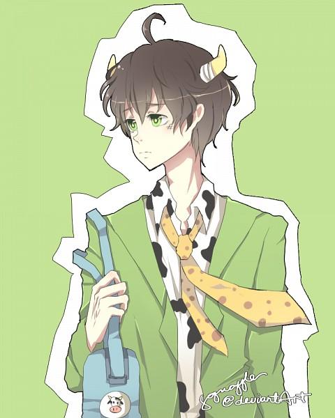 Tags: Anime, Squaffle, Katekyo Hitman REBORN!, Adult Lambo, Lambo, Cow Print