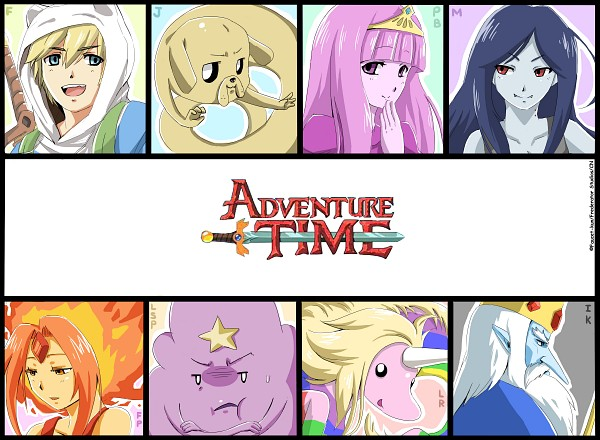 Tags: Anime, HyLian-Of-Ooo, Adventure Time, Lady Rainicorn, Ice King, Finn the Human, Princess Bonnibel Bubblegum, Marceline Abadeer, Lumpy Space Princess, Jake the Dog, Flame Princess, Fiery Hair, Fanart From DeviantART