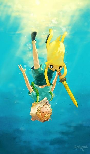 Tags: Anime, Adventure Time, Finn the Human, Jake the Dog, Fanart From DeviantART, Mobile Wallpaper, deviantART, Fanart