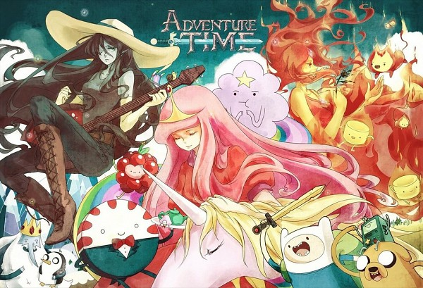 Tags: Anime, FLAFLY, Adventure Time, Princess Bonnibel Bubblegum, Finn the Human, Flame Princess, Jake the Dog, Marceline Abadeer, Wildberry Princess, Lady Rainicorn, Peppermint Butler, Ice King, Lumpy Space Princess