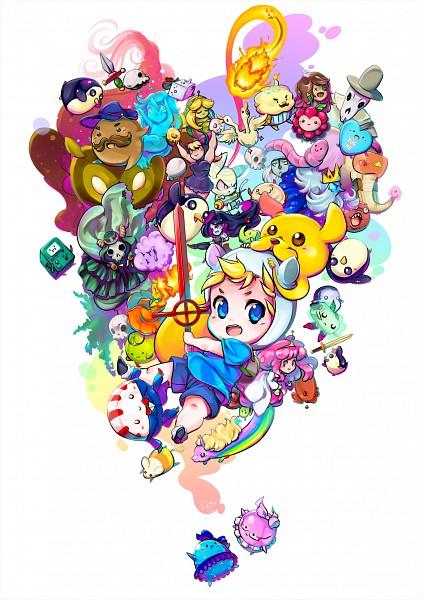 Tags: Anime, Suguri (Artist), Adventure Time, Peppermint Butler, Princess Bonnibel Bubblegum, BMO, Jake the Dog, Lady Rainicorn, Finn the Human, Ice King, Marceline Abadeer, Pink Skin, Fanart From DeviantART